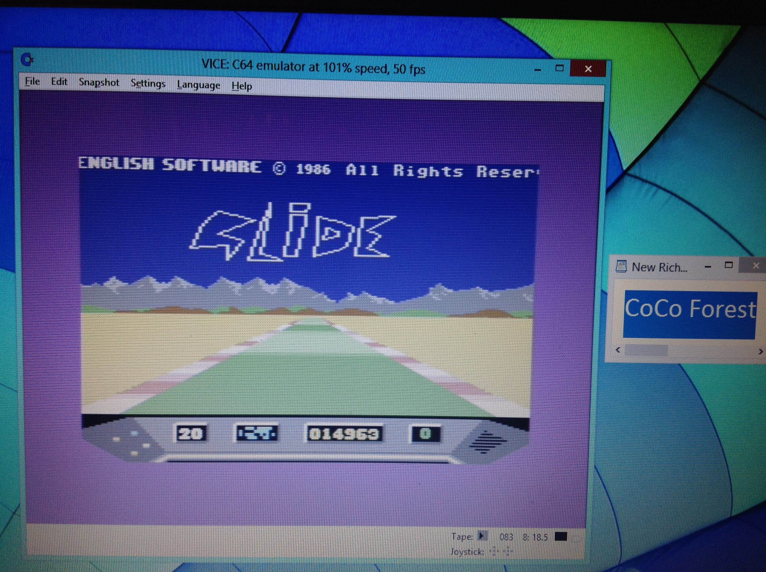 CoCoForest: Elektra Glide (Commodore 64 Emulated) 14,963 points on 2018-10-19 13:50:14
