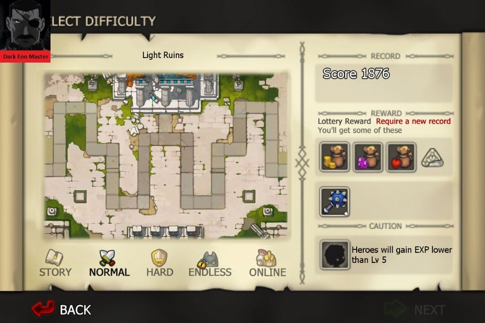DarkEonMaster: Element Defense: LIGHT: Light Ruins [Normal] (iOS) 1,876 points on 2015-08-16 21:36:46
