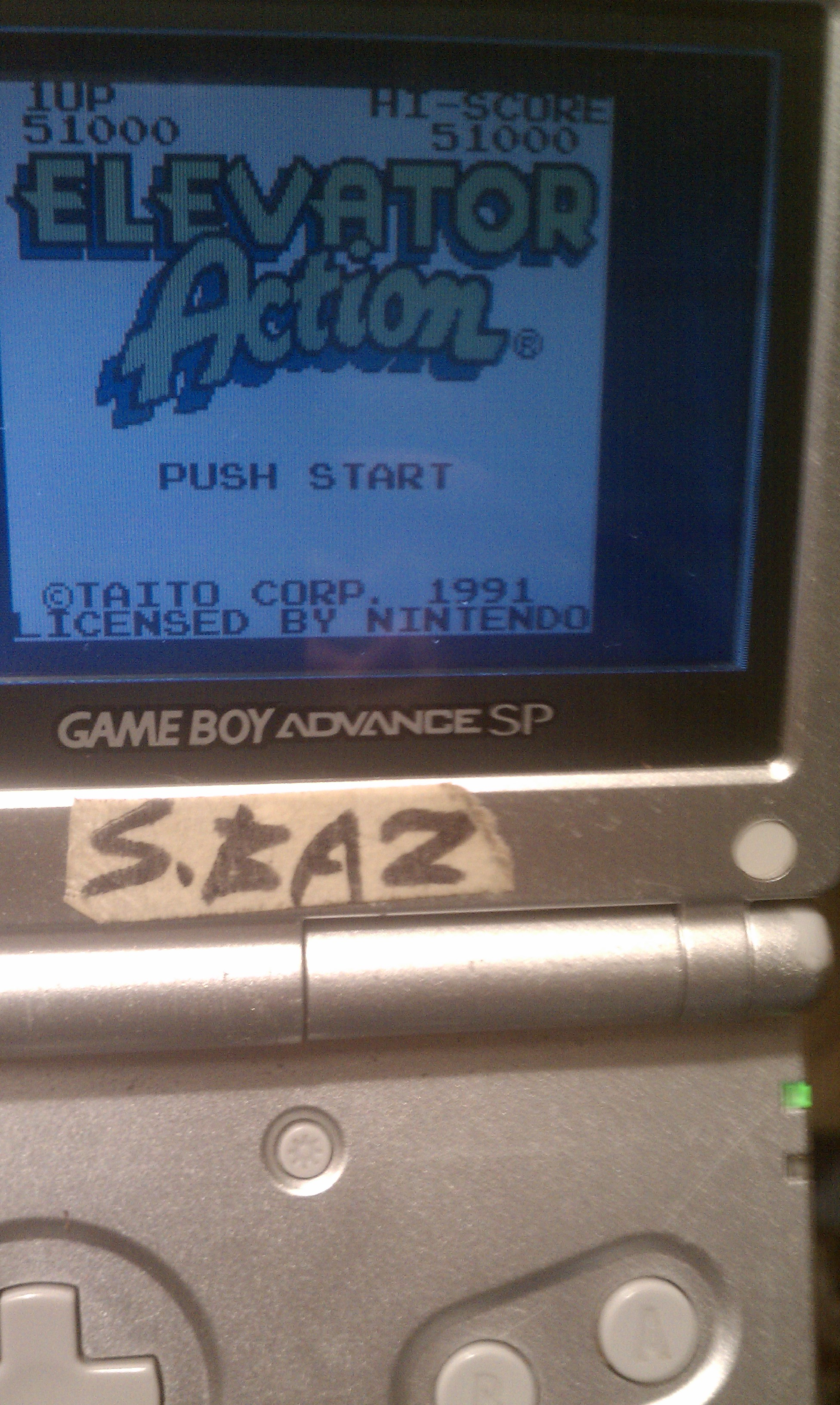 S.BAZ: Elevator Action (Game Boy Color) 51,000 points on 2016-07-26 02:08:14