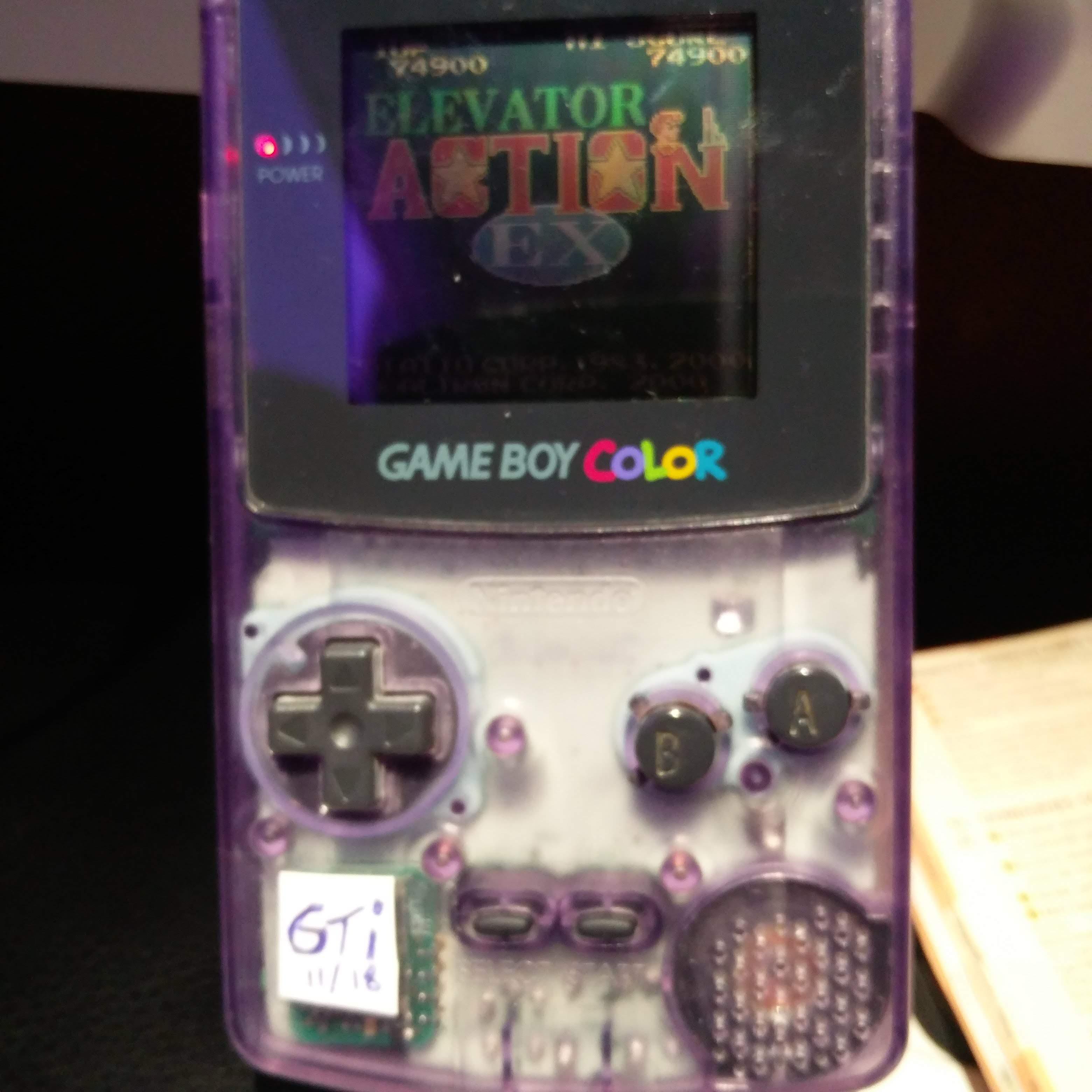 GTibel: Elevator Action (Game Boy Color) 74,900 points on 2018-11-13 22:18:34