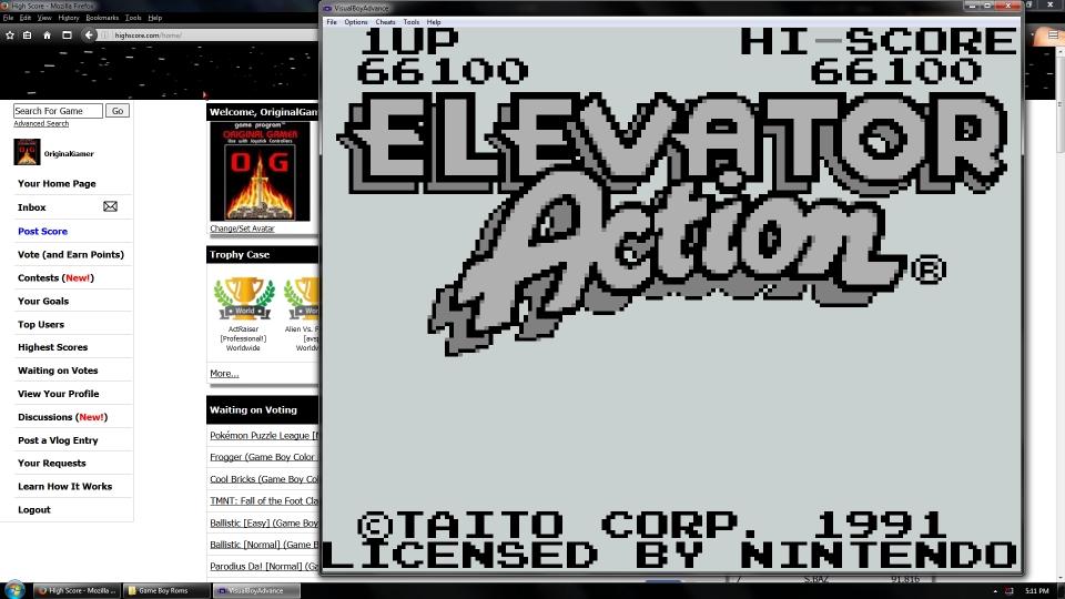 OriginalGamer: Elevator Action (Game Boy Emulated) 66,100 points on 2016-07-15 15:32:07