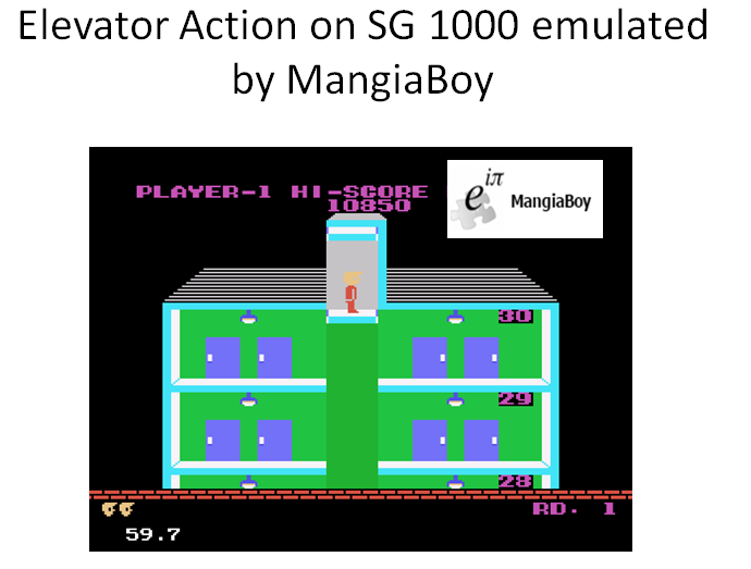 MangiaBoy: Elevator Action (Sega SG-1000 Emulated) 10,850 points on 2016-01-20 20:28:23