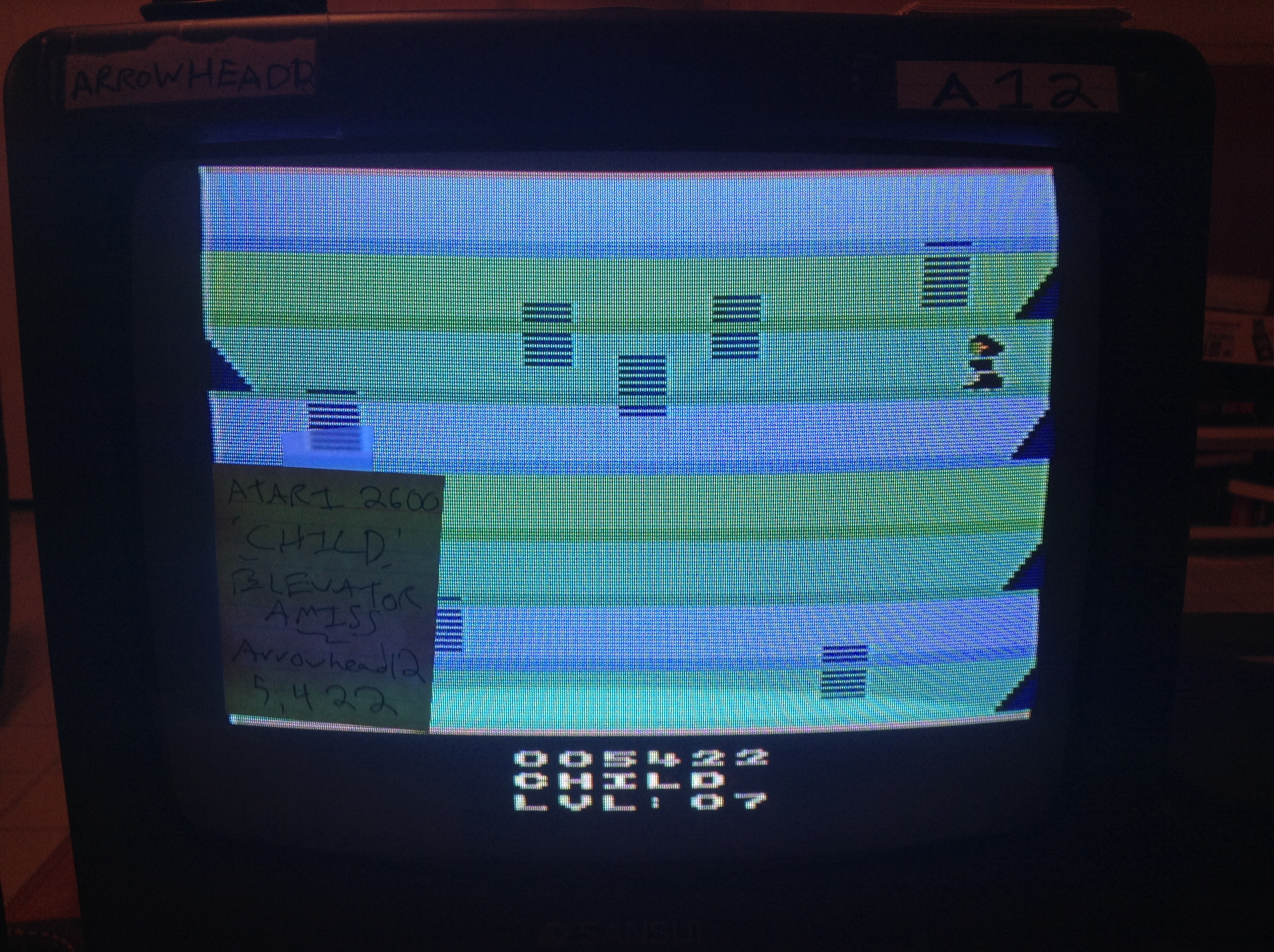 Arrowhead12: Elevators Amiss [Child Mode] (Atari 2600 Novice/B) 5,422 points on 2019-01-05 03:47:07