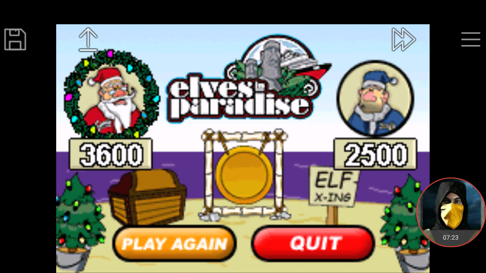 omargeddon: Elf Bowling 2 (GBA Emulated) 3,600 points on 2018-01-21 21:23:51