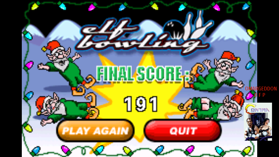 omargeddon: Elf Bowling (GBA Emulated) 191 points on 2017-10-25 21:58:12