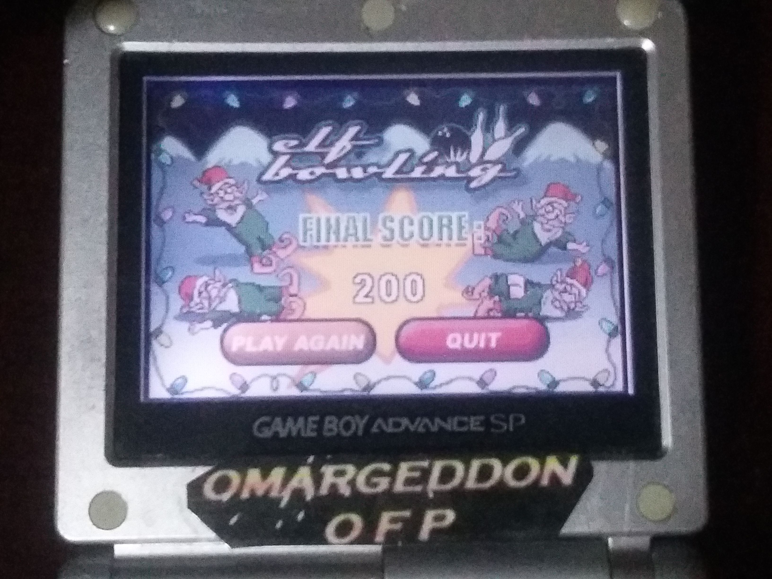 omargeddon: Elf Bowling (GBA) 200 points on 2018-01-17 16:56:40
