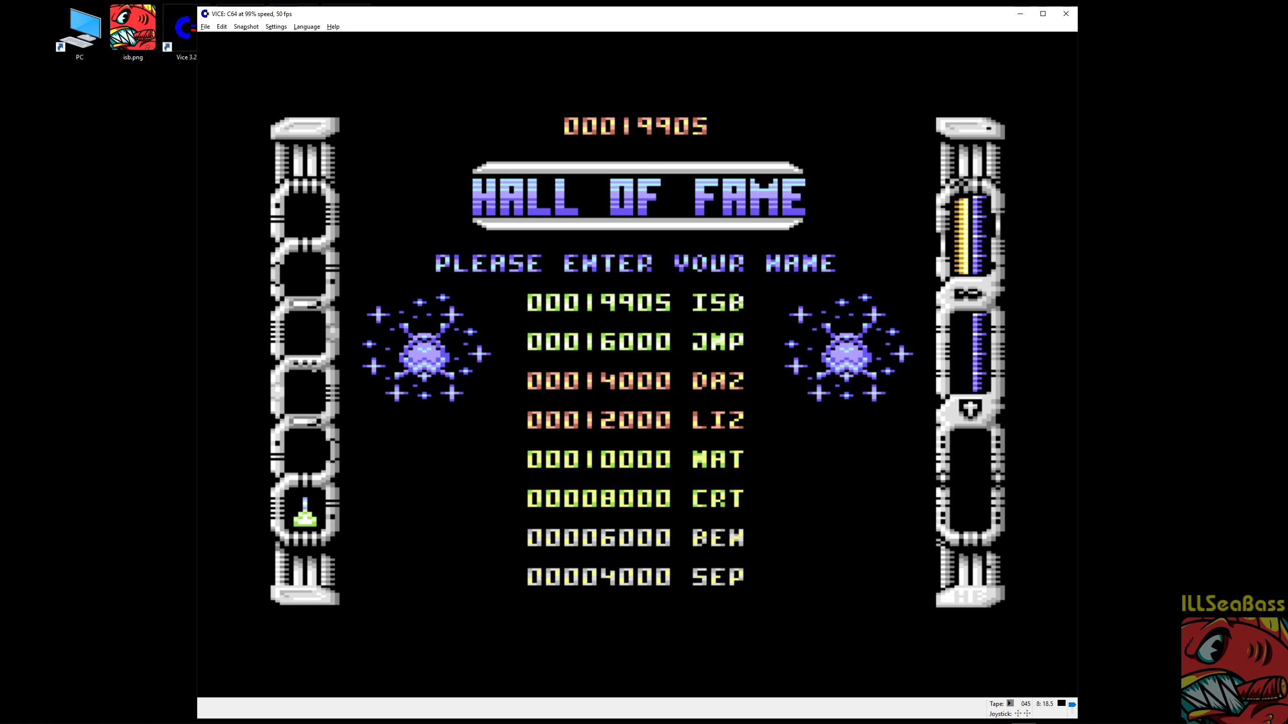 ILLSeaBass: Eliminator [Hewson] (Commodore 64 Emulated) 19,905 points on 2019-02-25 08:47:51