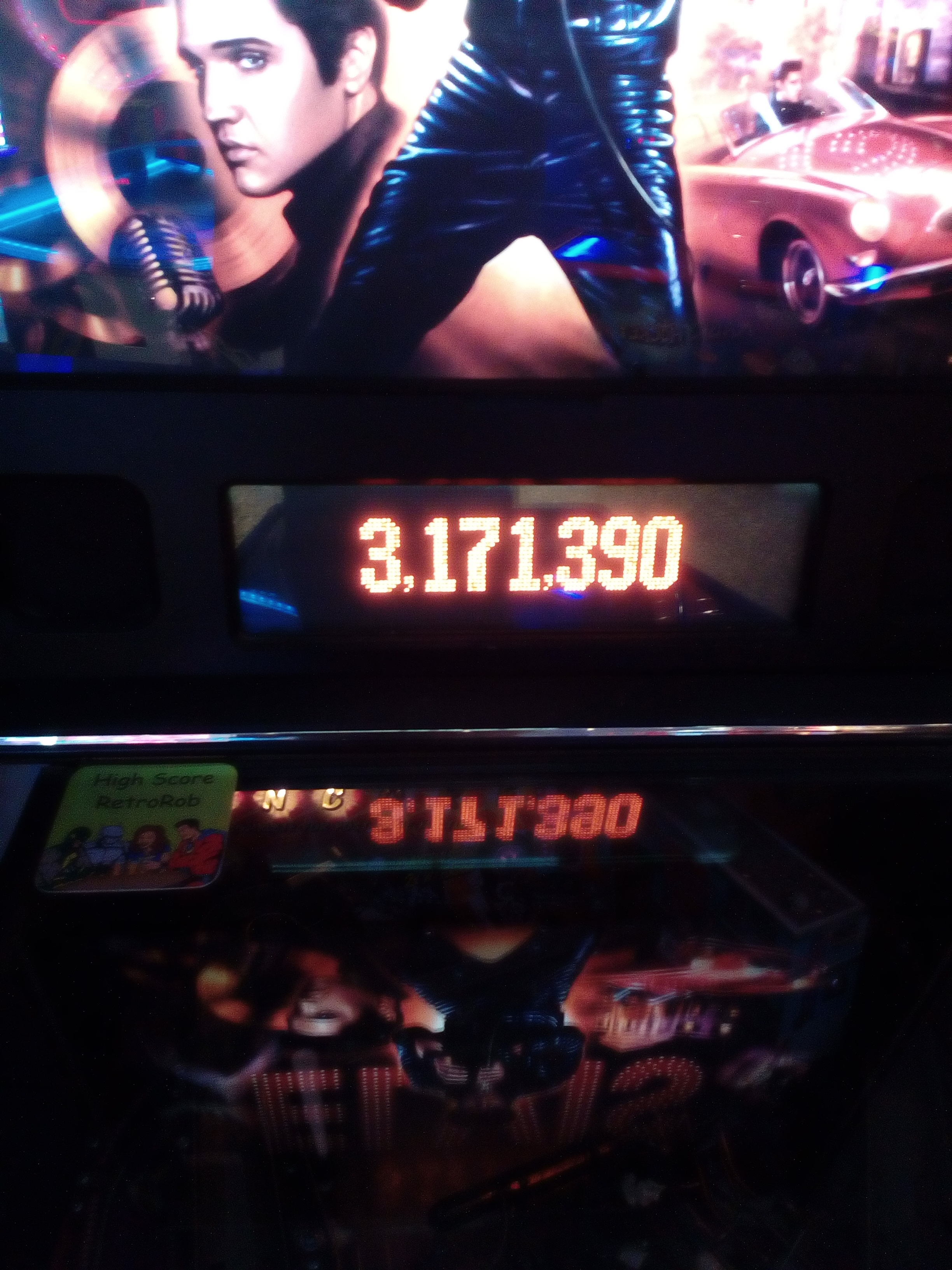 RetroRob: Elvis (Pinball: 3 Balls) 3,171,390 points on 2018-08-02 13:42:25