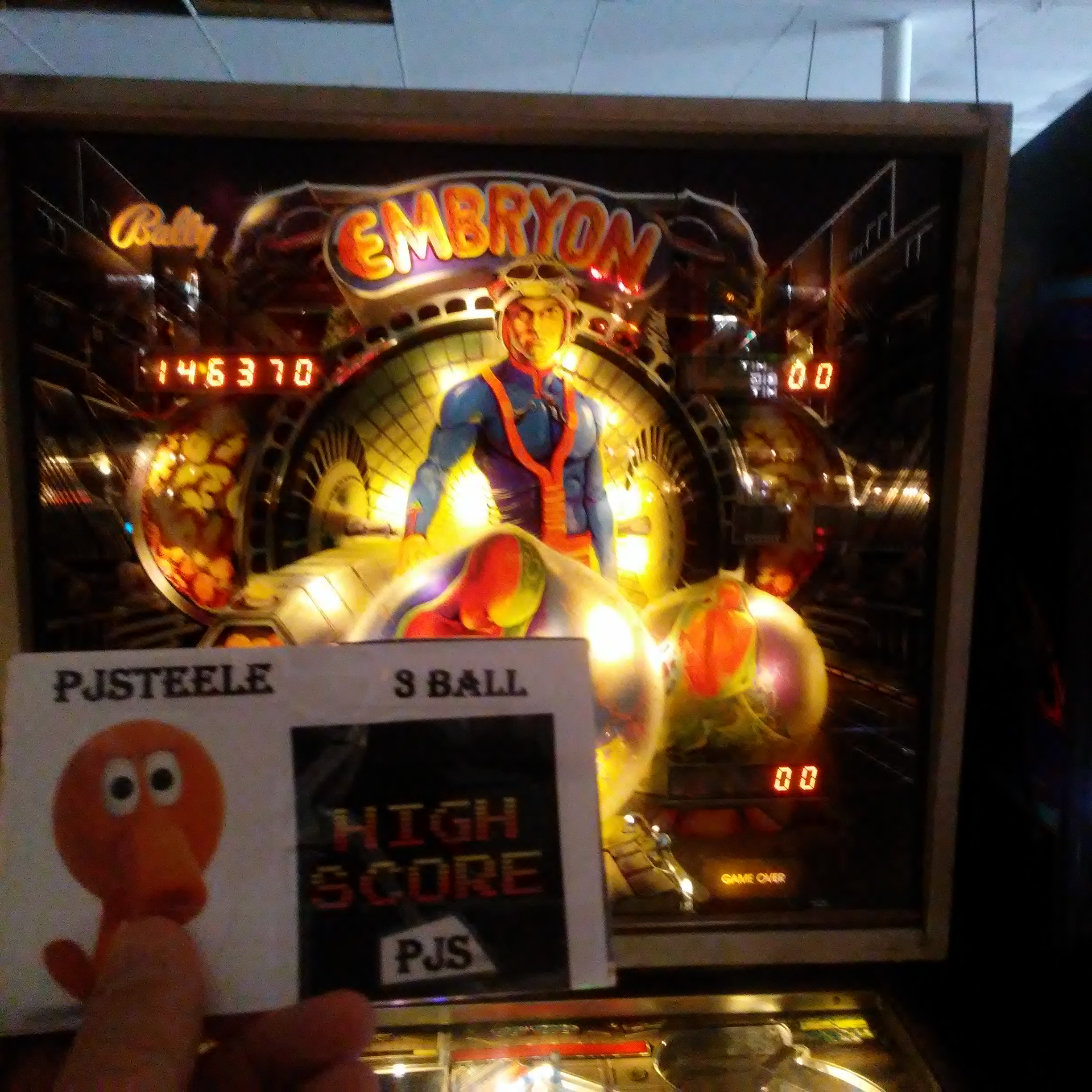 Pjsteele: Embryon (Pinball: 3 Balls) 146,370 points on 2018-03-03 21:10:42