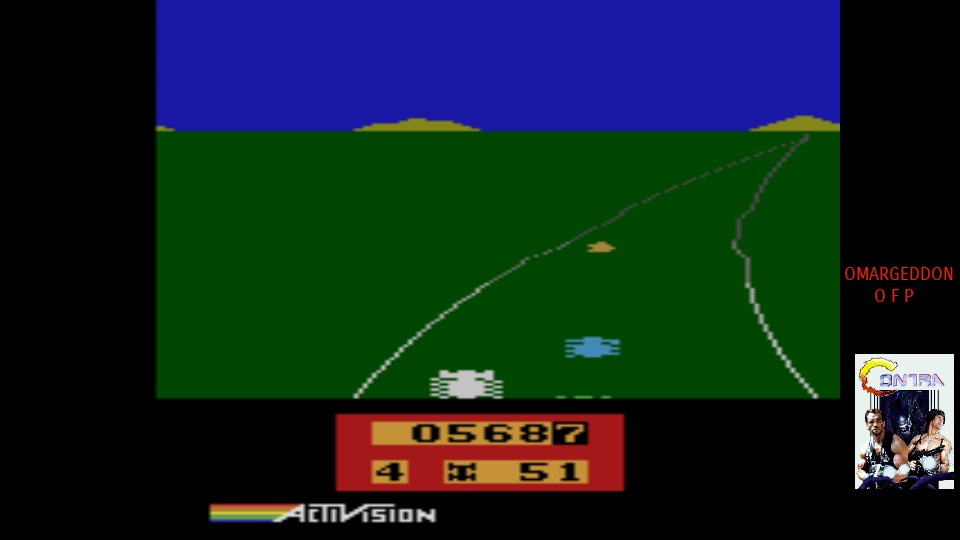 omargeddon: Enduro						 	 (Atari 2600 Emulated Expert/A Mode) 569 points on 2017-08-05 01:11:09