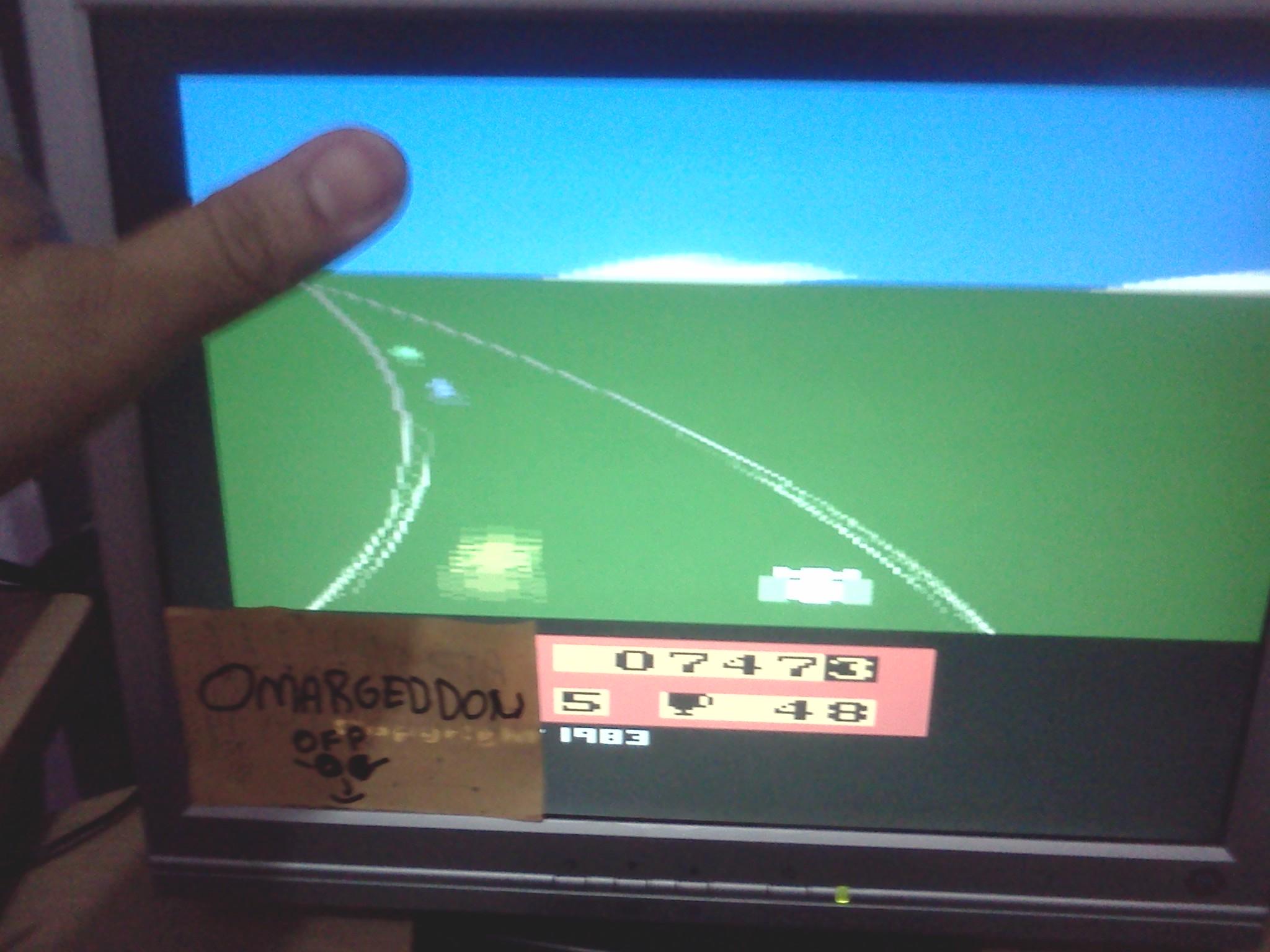 omargeddon: Enduro  (Atari 2600 Emulated Novice/B Mode) 747 points on 2016-07-31 23:27:20