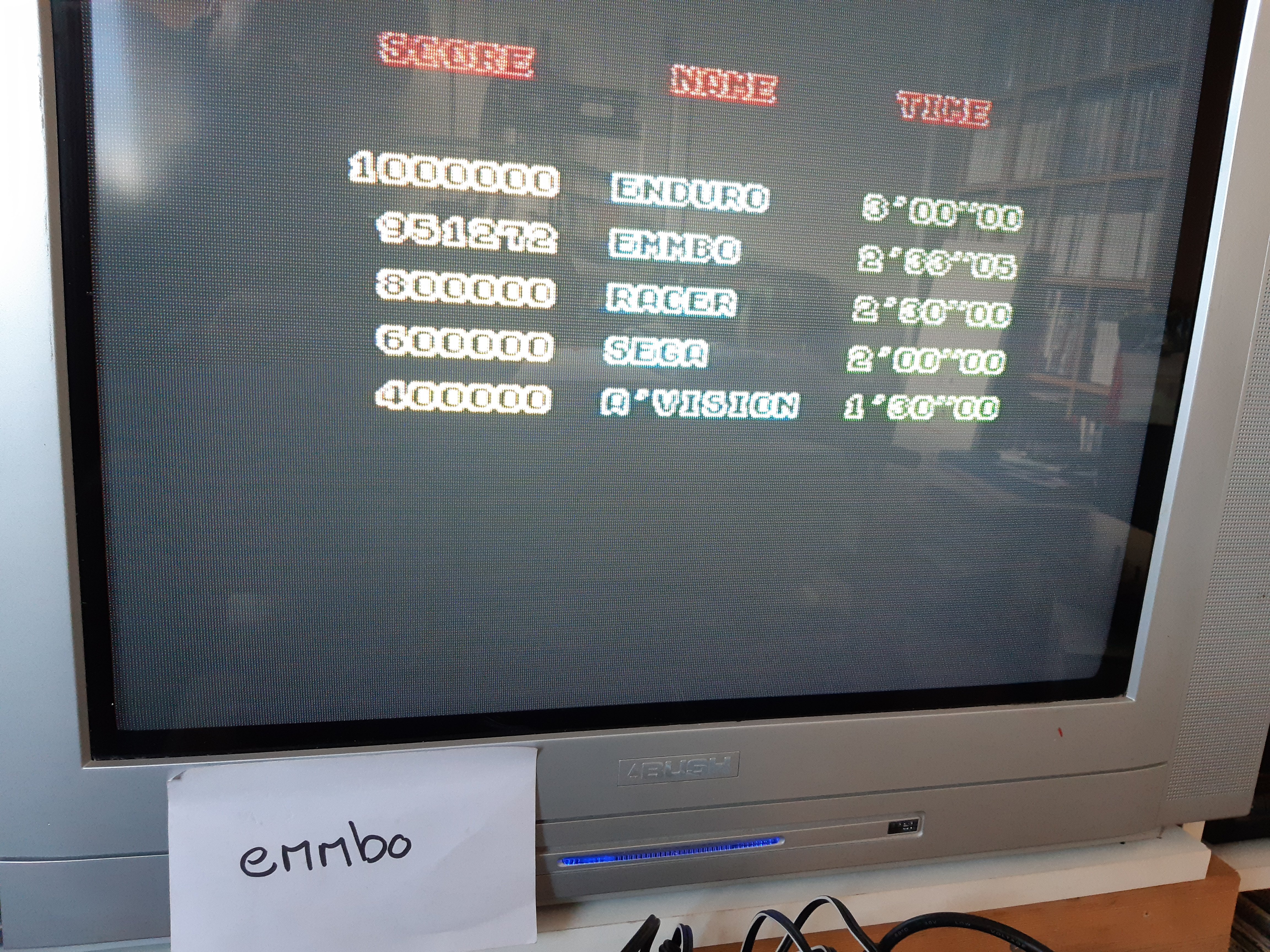 emmbo: Enduro Racer (ZX Spectrum Emulated) 951,272 points on 2020-02-29 01:03:48