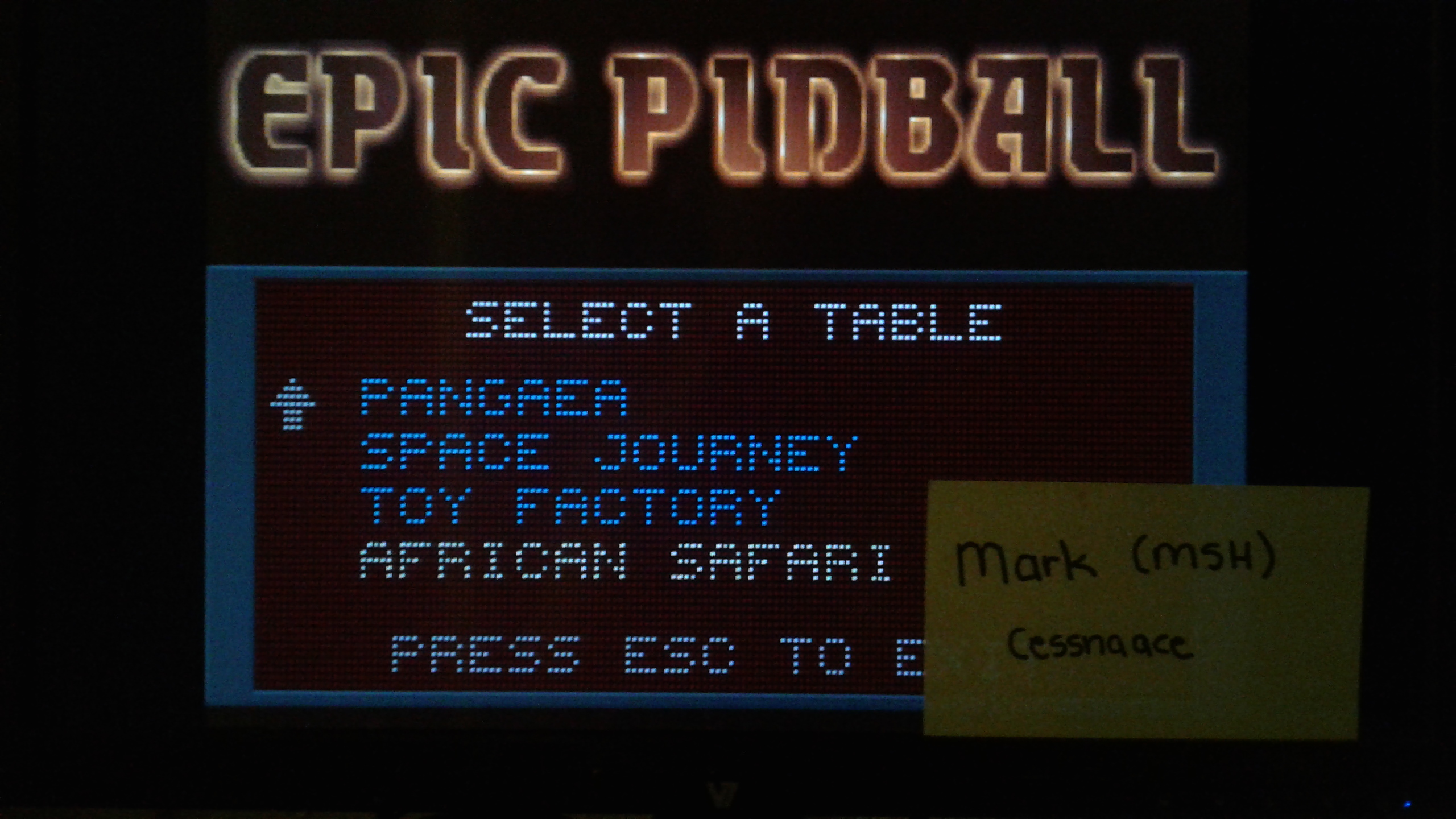 Mark: Epic Pinball: African Safari (PC Emulated / DOSBox) 9,860,000 points on 2019-05-15 01:06:34