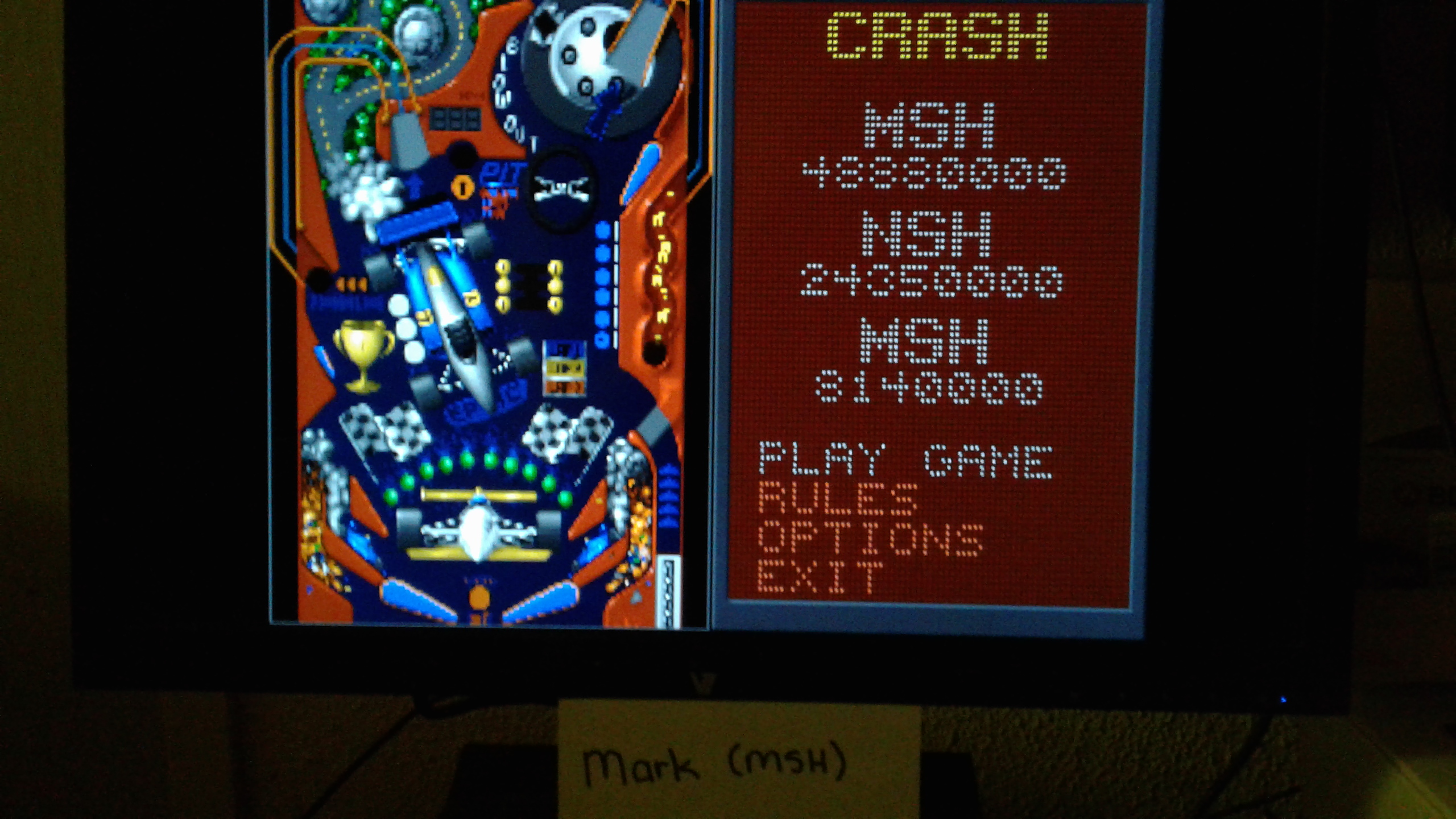 Mark: Epic Pinball: Crash and Burn (PC Emulated / DOSBox) 48,880,000 points on 2019-05-12 00:05:15