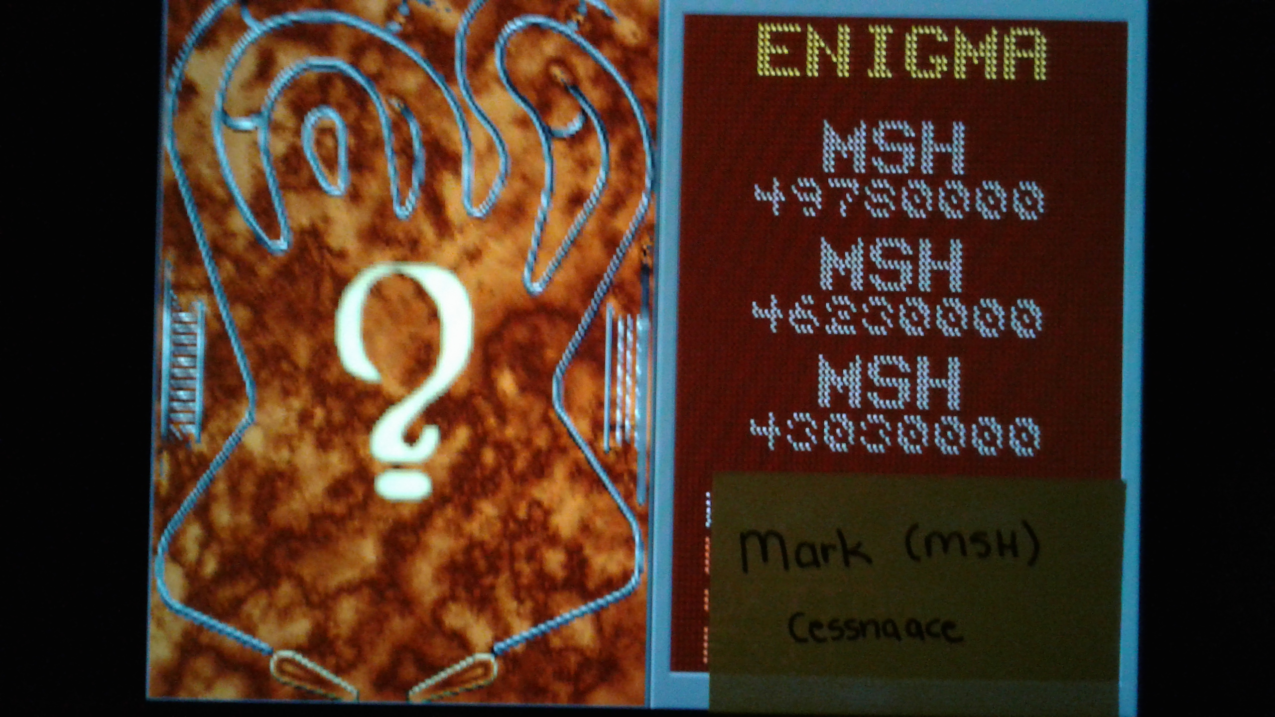 Mark: Epic Pinball: Enigma (PC Emulated / DOSBox) 49,780,000 points on 2019-05-13 02:01:29