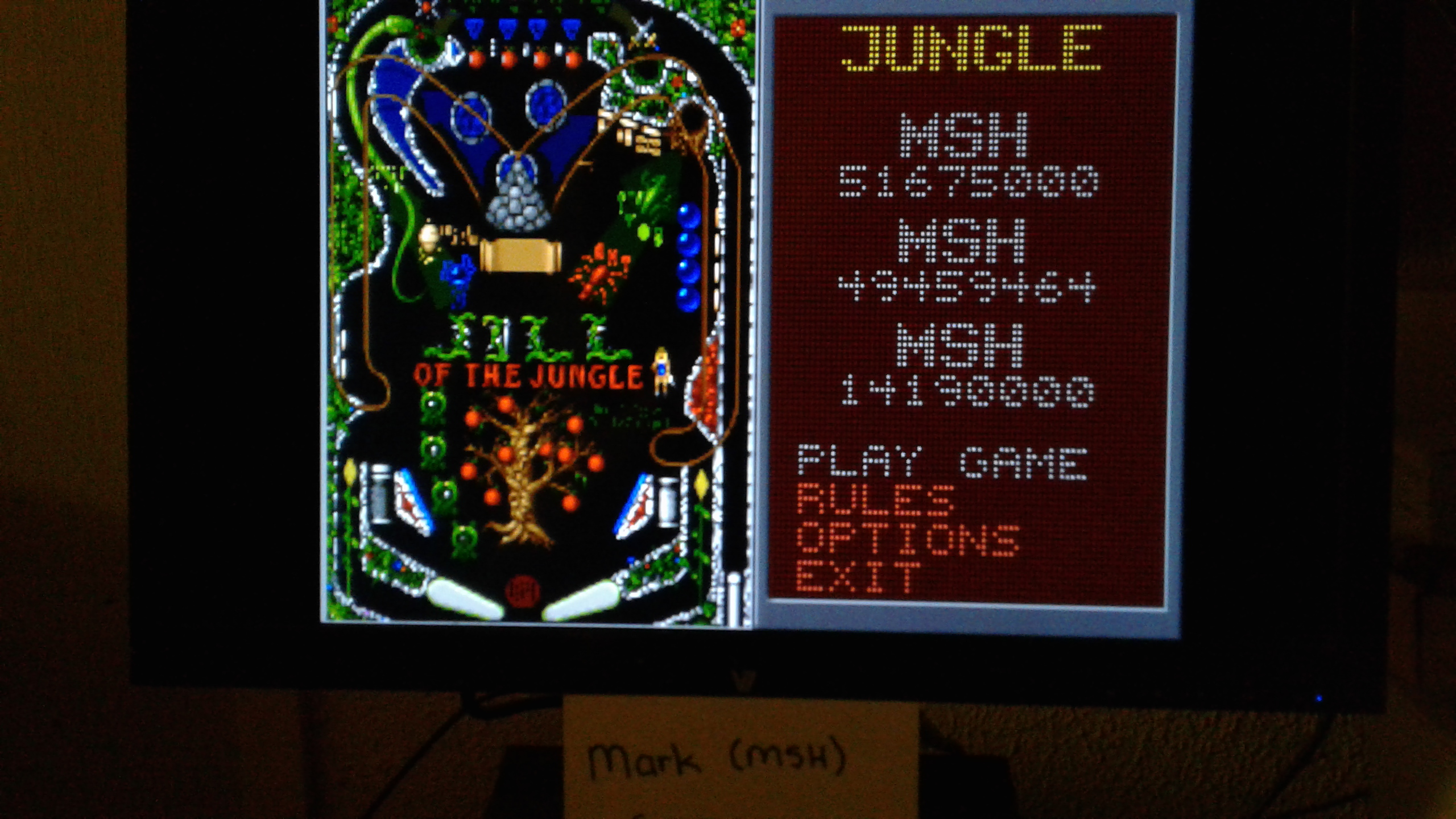 Mark: Epic Pinball: Jungle Pinball (PC Emulated / DOSBox) 51,675,000 points on 2019-05-13 01:53:36
