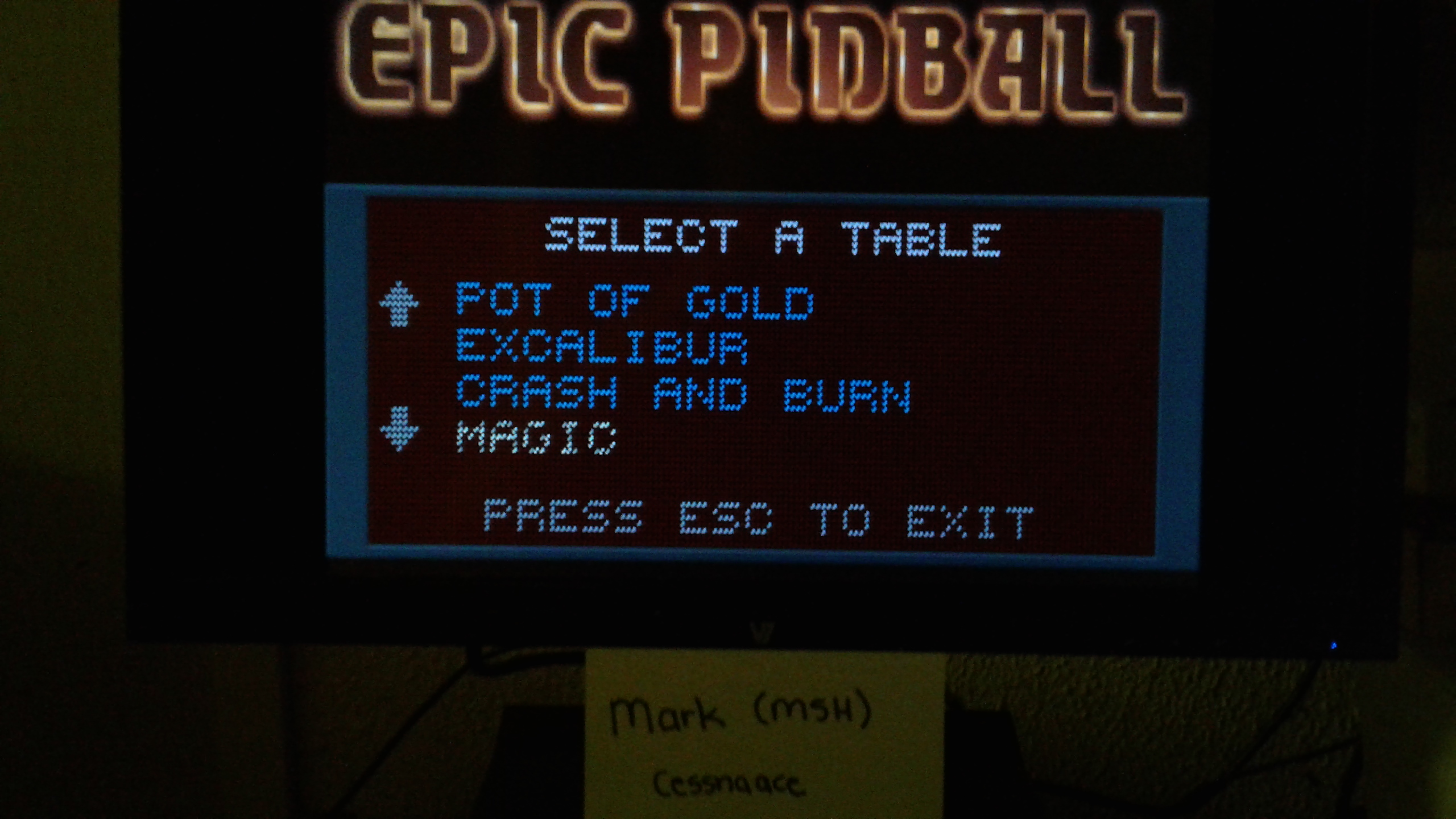 Mark: Epic Pinball: Magic (PC Emulated / DOSBox) 15,450 points on 2019-05-13 01:49:15