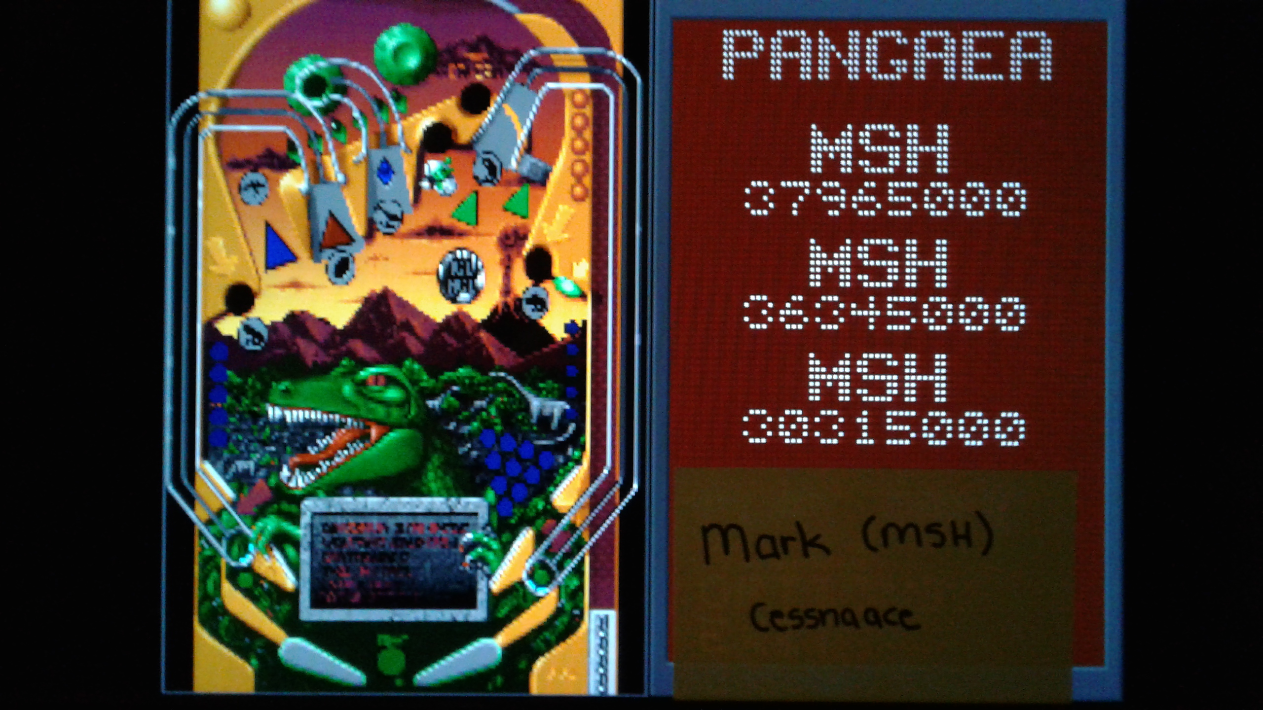 Mark: Epic Pinball: Pangaea (PC Emulated / DOSBox) 37,965,000 points on 2019-05-14 01:26:25