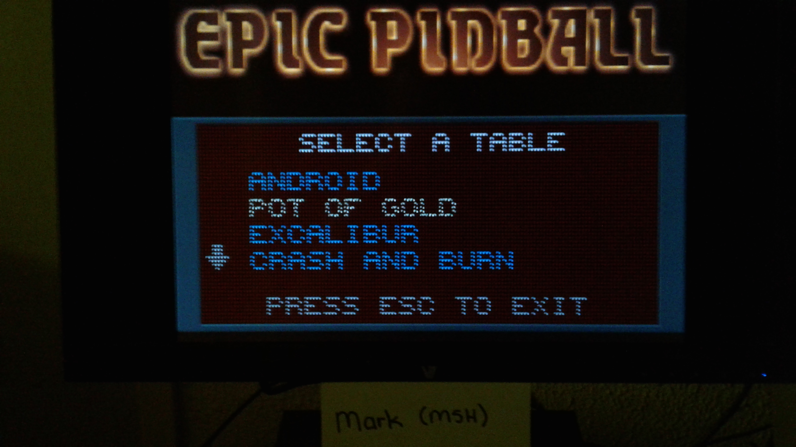 Mark: Epic Pinball: Pot of Gold (PC Emulated / DOSBox) 52,255,000 points on 2019-05-11 23:55:28