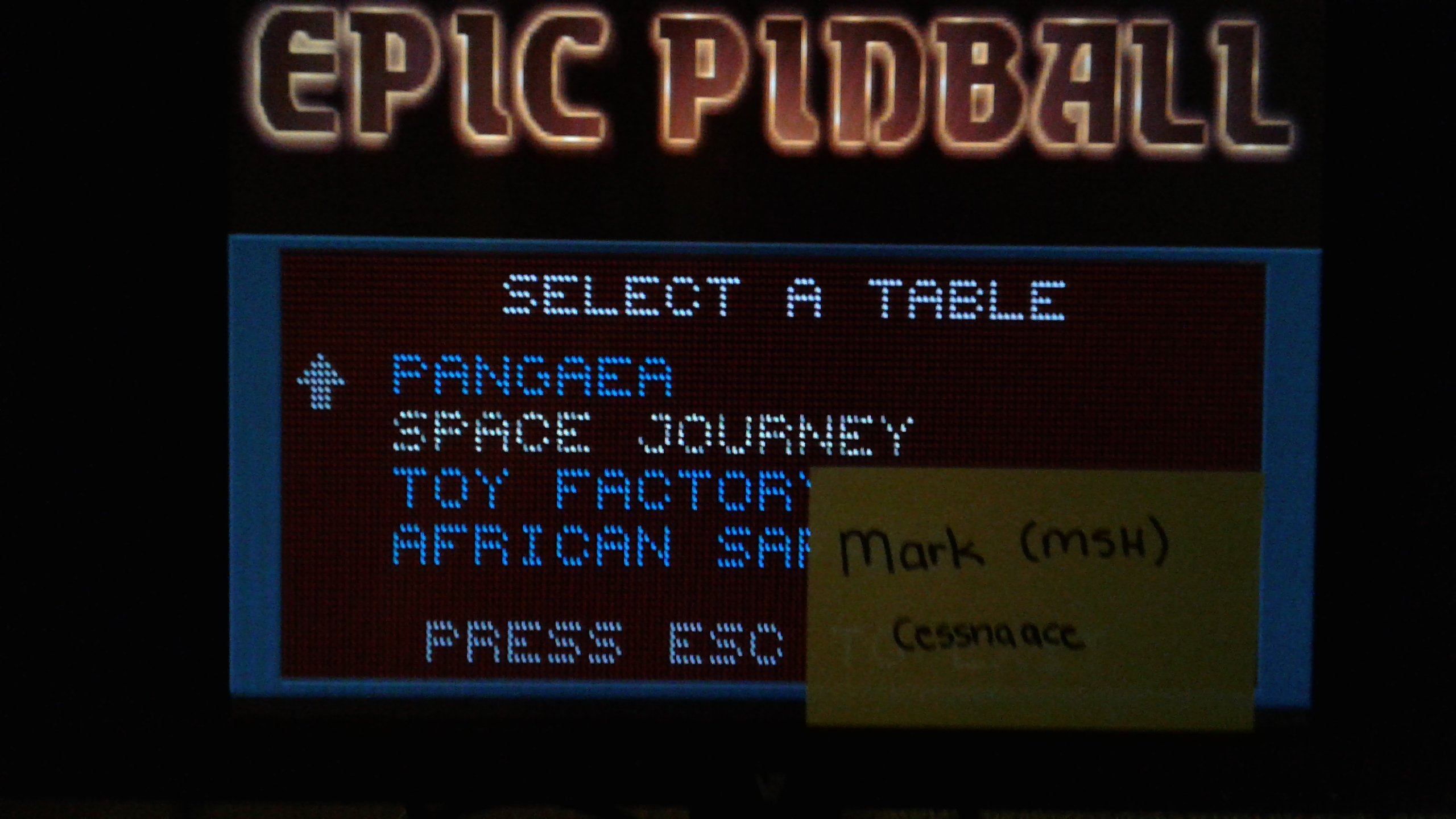 Mark: Epic Pinball: Space Journey (PC Emulated / DOSBox) 4,460,000 points on 2019-05-14 01:31:27