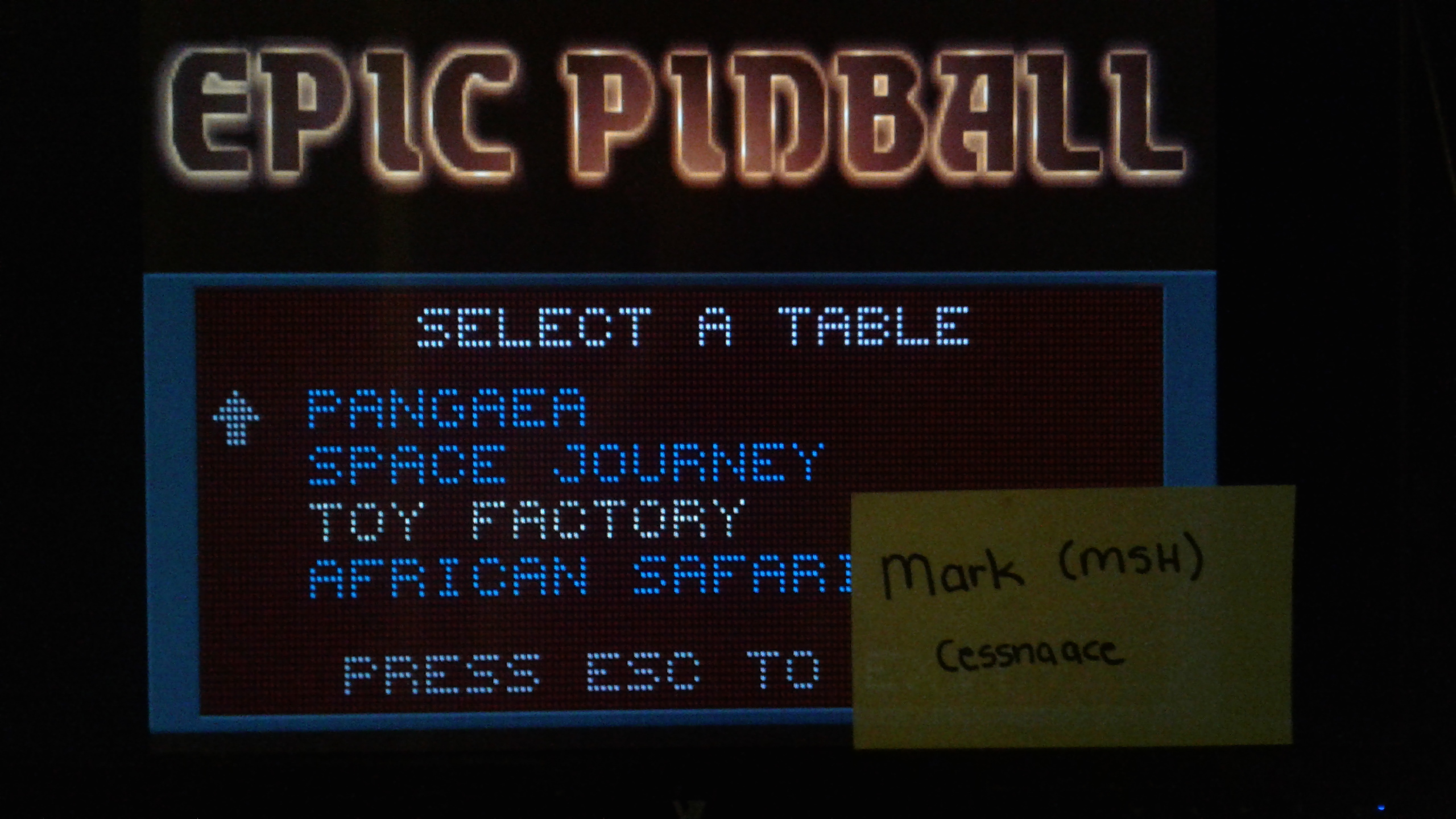 Mark: Epic Pinball: Toy Factory (PC Emulated / DOSBox) 16,174,990 points on 2019-05-15 00:59:02