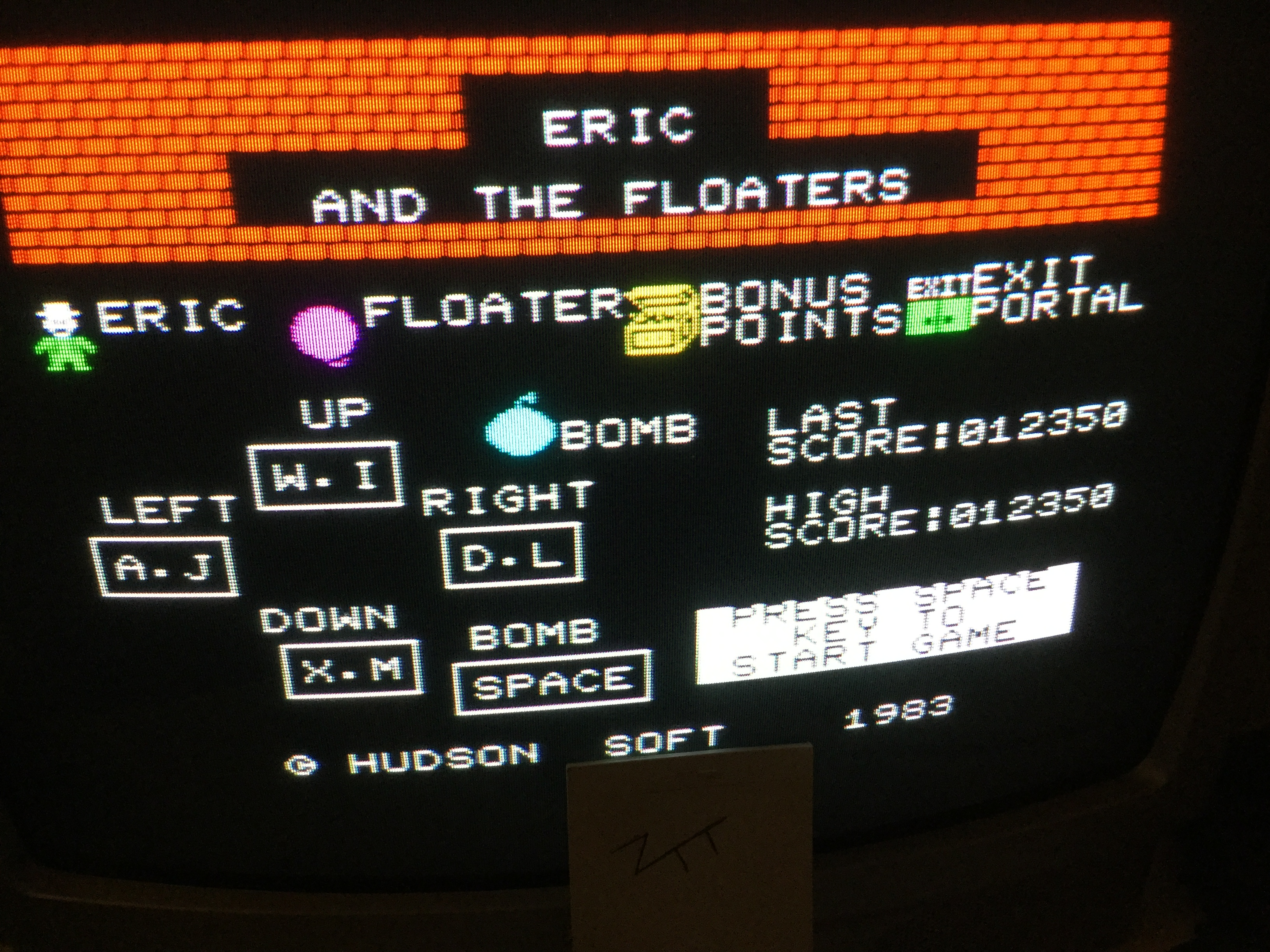 Frankie: Eric and the Floaters (ZX Spectrum) 12,350 points on 2019-09-28 03:33:18