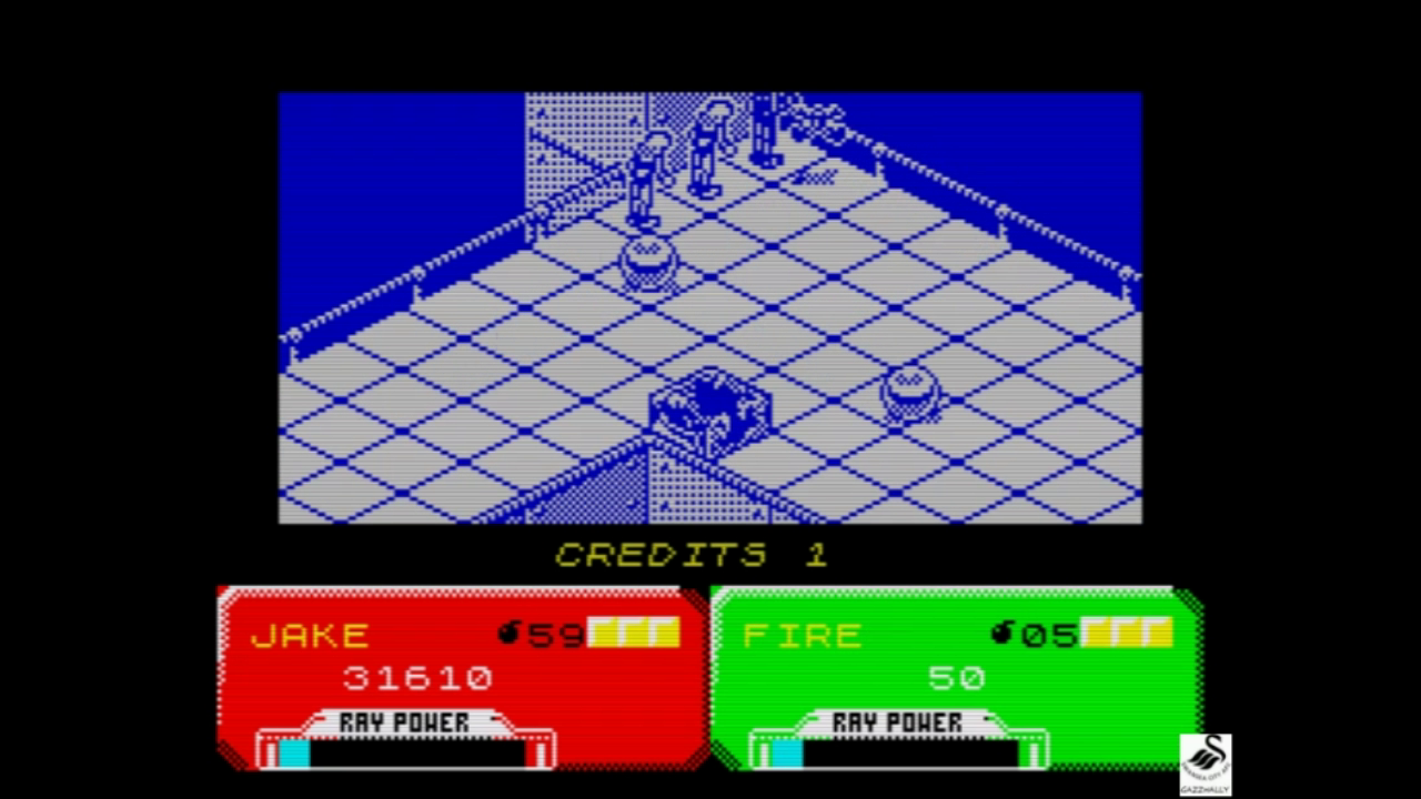 gazzhally: Escape From Planet Of Robot Monsters (ZX Spectrum Emulated) 31,610 points on 2018-11-27 13:40:36
