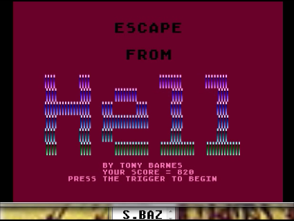 S.BAZ: Escape from Hell (Atari 400/800/XL/XE Emulated) 820 points on 2016-05-28 16:23:06