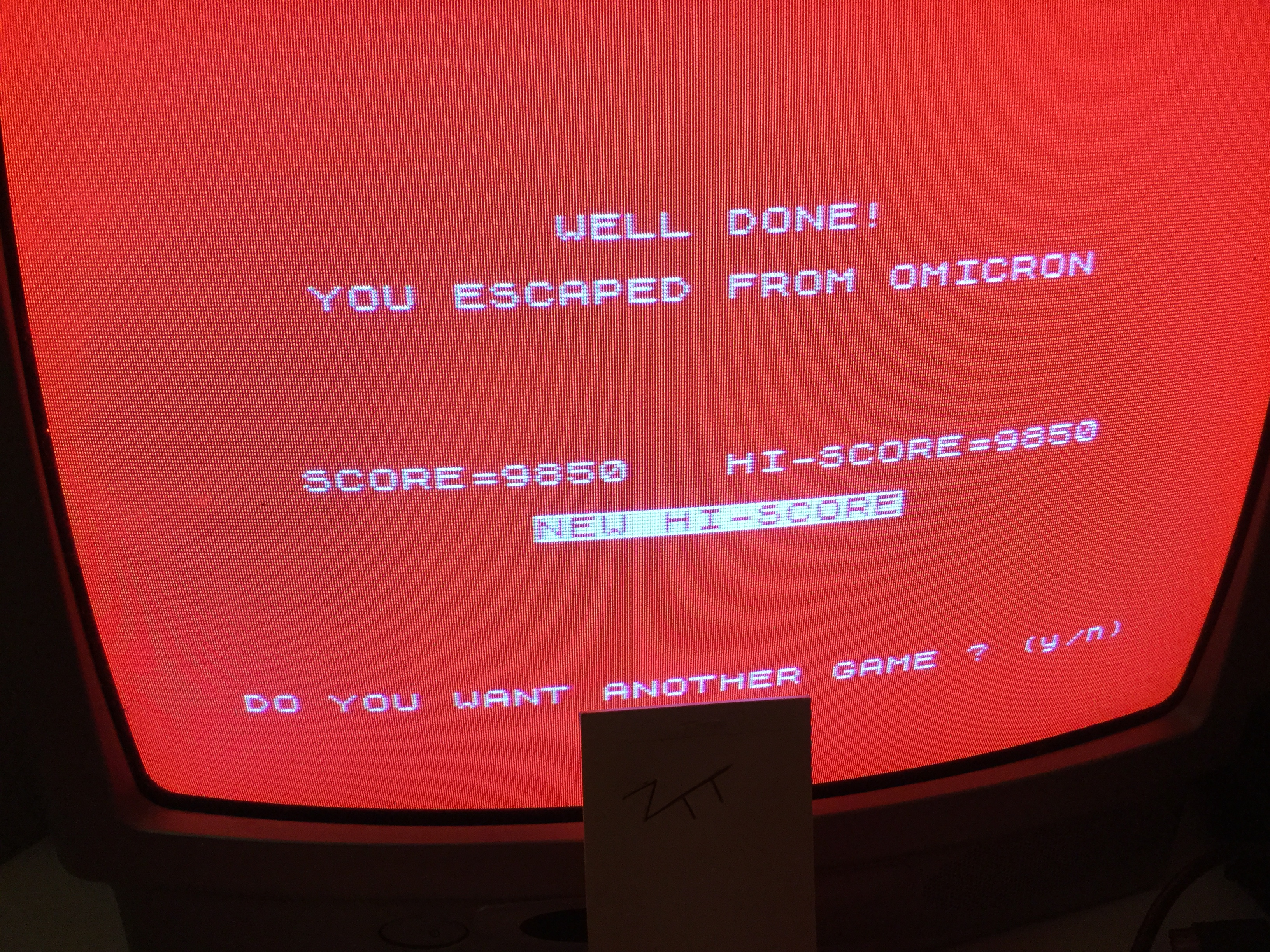 Escape from Omicron [Level 1] 9,850 points