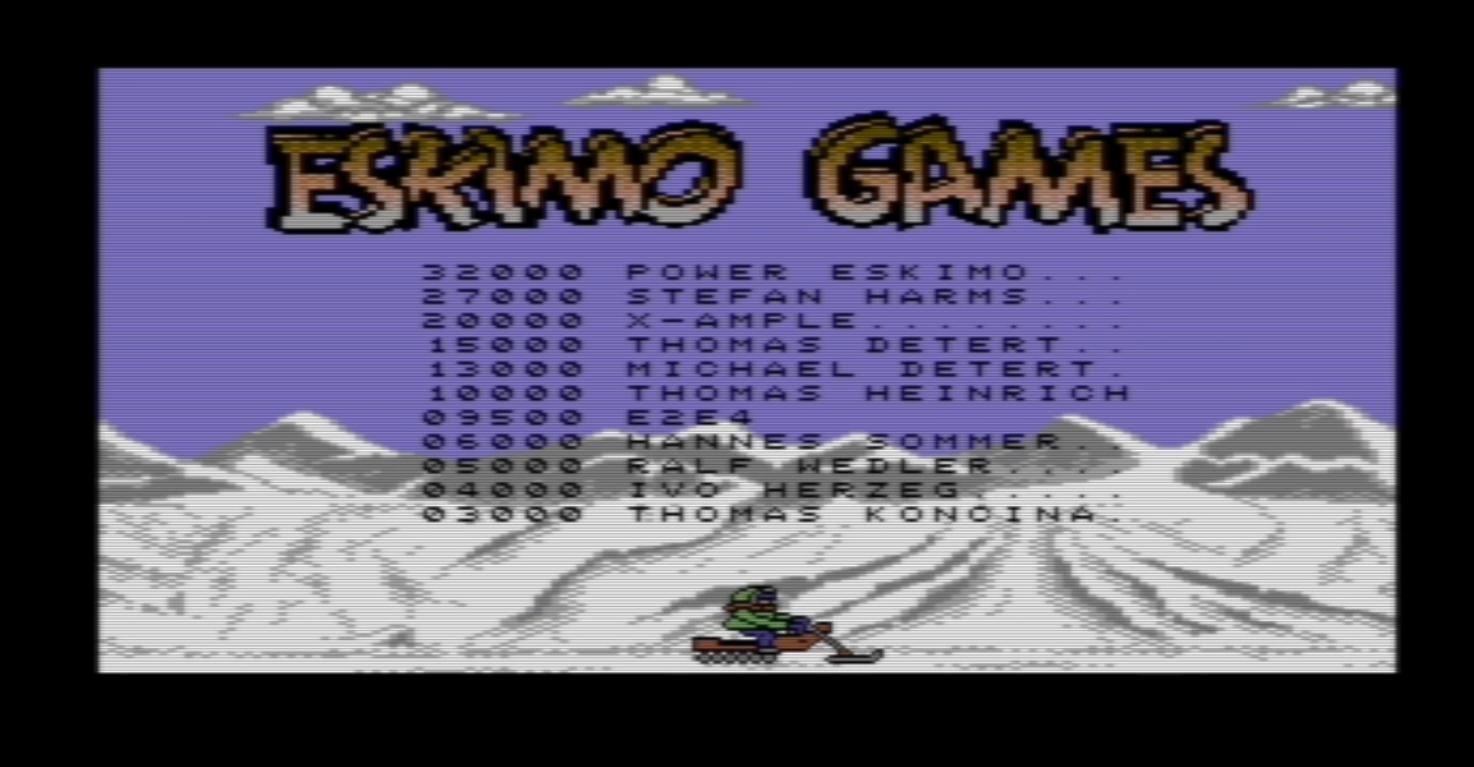Eskimo Games 9,500 points