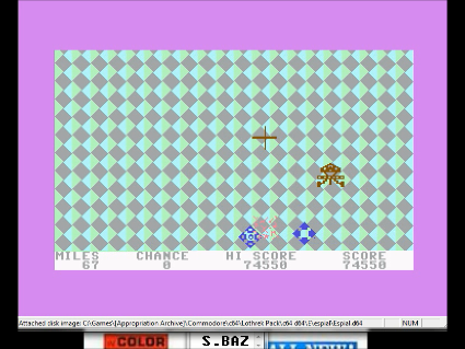 S.BAZ: Espial (Commodore 64 Emulated) 74,550 points on 2016-05-28 15:59:50