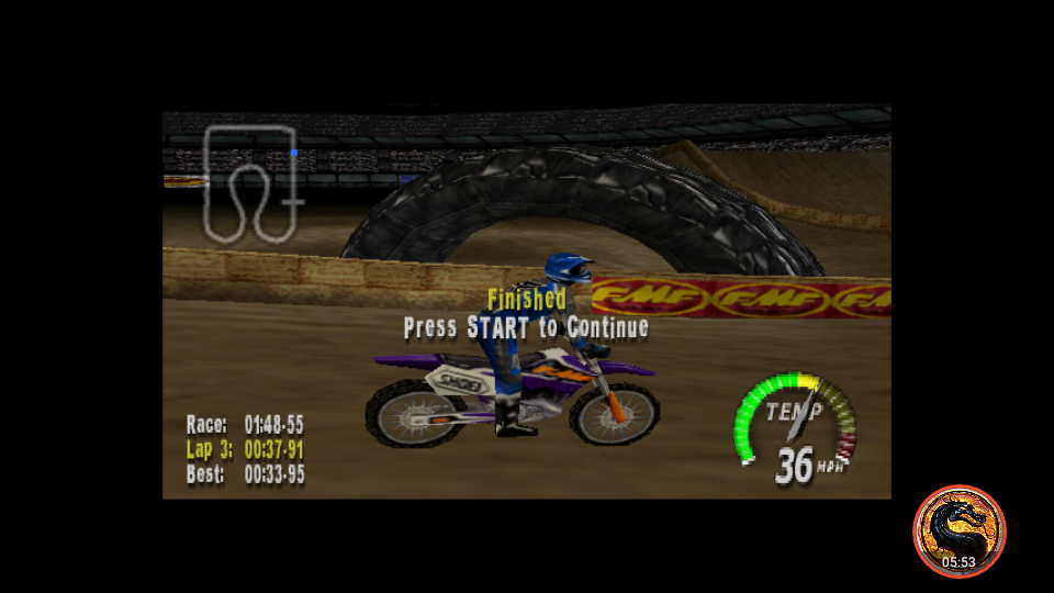 omargeddon: Excitebike 64: Time Trials [Orlando, FL] (N64 Emulated) 0:01:48.55 points on 2019-03-16 00:27:00