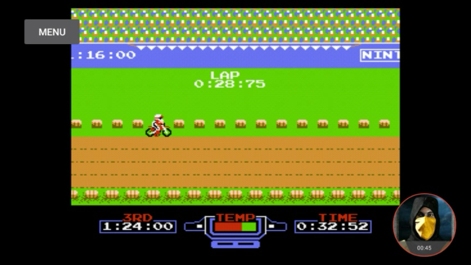 omargeddon: Excitebike: Track 1 [Fastest Lap] (NES/Famicom Emulated) 0:00:28.75 points on 2018-02-13 22:55:27