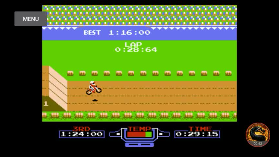 omargeddon: Excitebike: Track 1 [Fastest Lap] (NES/Famicom Emulated) 0:00:28.64 points on 2018-09-22 08:03:23