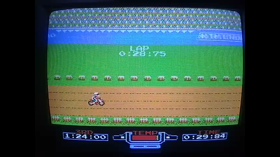 omargeddon: Excitebike: Track 1 [Fastest Lap] (NES/Famicom) 0:00:28.75 points on 2020-05-04 21:47:30