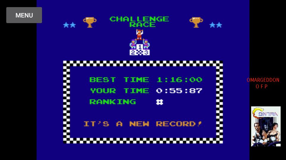 omargeddon: Excitebike: Track 1 (NES/Famicom Emulated) 0:00:55.87 points on 2017-10-08 21:22:16