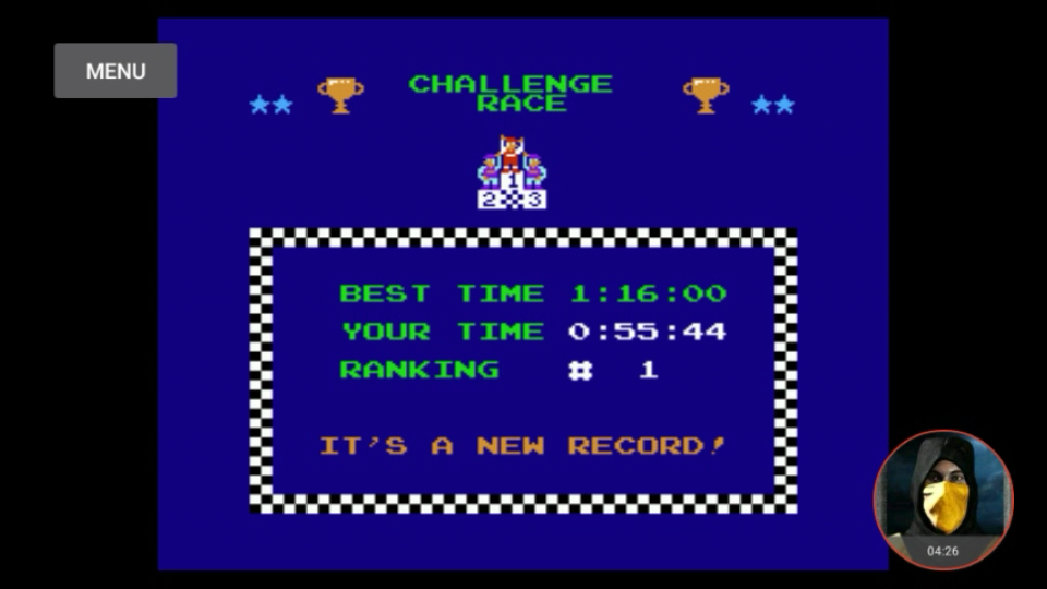 omargeddon: Excitebike: Track 1 (NES/Famicom Emulated) 0:00:55.44 points on 2018-02-12 21:51:38