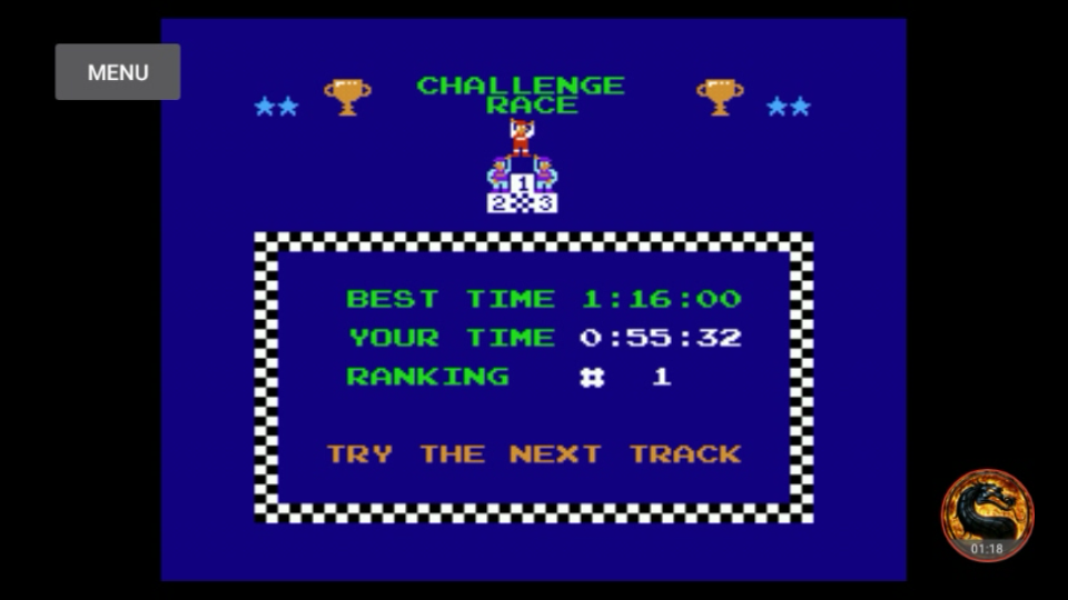 omargeddon: Excitebike: Track 1 (NES/Famicom Emulated) 0:00:55.32 points on 2018-09-21 19:19:48
