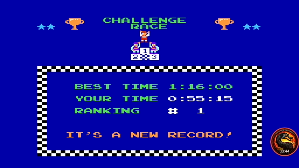 omargeddon: Excitebike: Track 1 (NES/Famicom Emulated) 0:00:55.15 points on 2020-04-13 21:23:47
