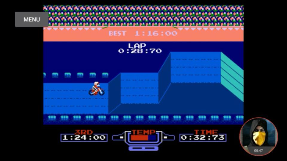omargeddon: Excitebike: Track 2 [Fastest Lap] (NES/Famicom Emulated) 0:00:28.7 points on 2018-02-14 16:42:12