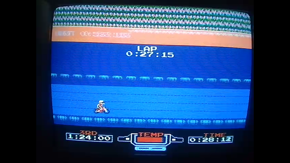 omargeddon: Excitebike: Track 2 [Fastest Lap] (NES/Famicom) 0:00:27.15 points on 2020-05-04 22:12:51