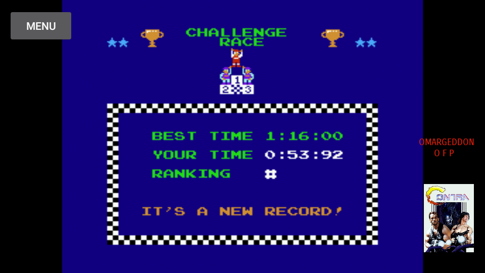 omargeddon: Excitebike: Track 2 (NES/Famicom Emulated) 0:00:53.92 points on 2017-10-10 19:31:22