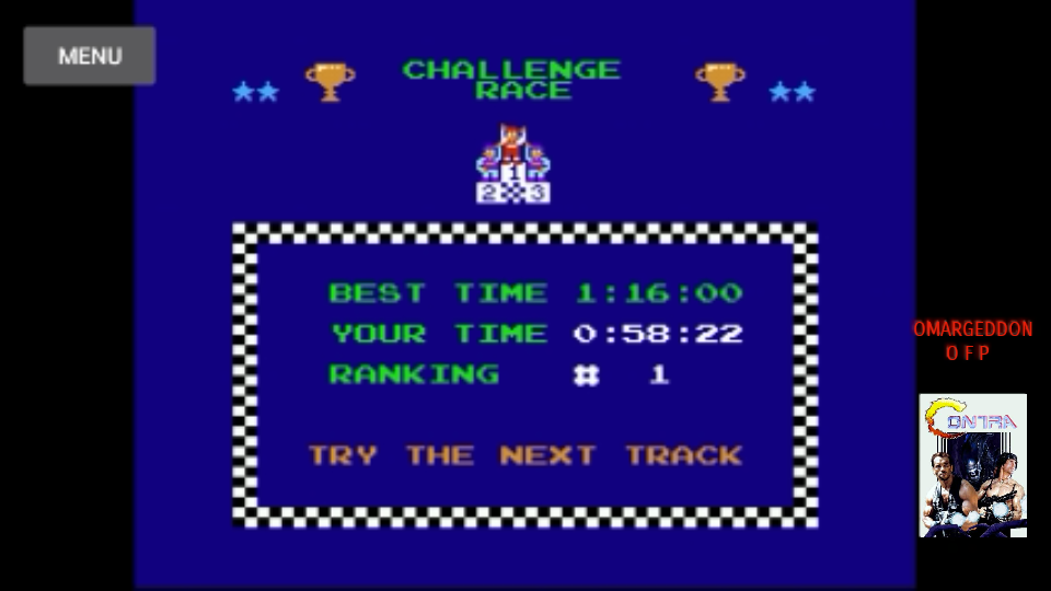 omargeddon: Excitebike: Track 2 [Selection B] (NES/Famicom Emulated) 0:00:58.22 points on 2017-10-13 18:32:19