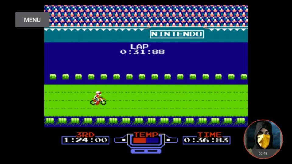 omargeddon: Excitebike: Track 3 [Fastest Lap] (NES/Famicom Emulated) 0:00:31.88 points on 2018-02-14 16:12:23