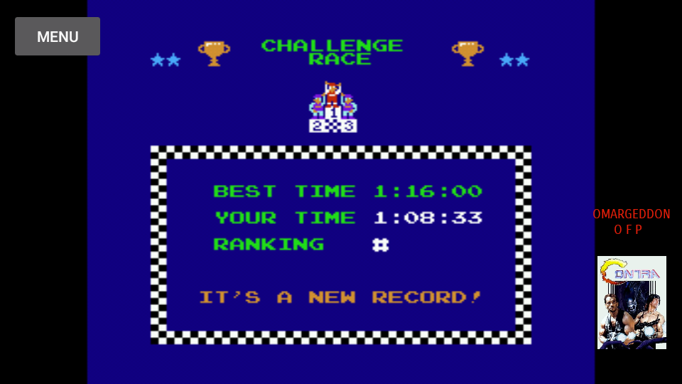 omargeddon: Excitebike: Track 3 [Selection B] (NES/Famicom Emulated) 0:01:08.33 points on 2017-10-13 20:04:09