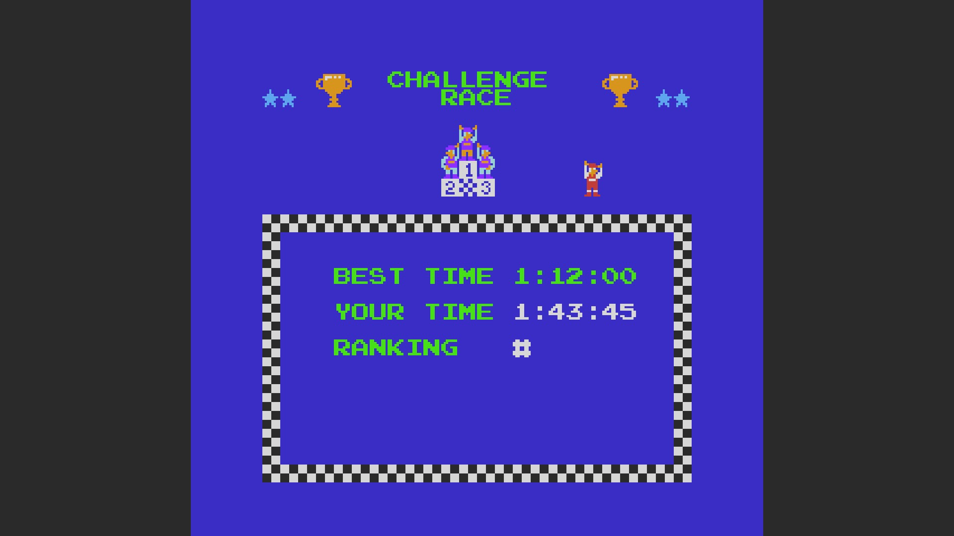 Excitebike: Track 4 [Selection B] time of 0:01:43.45