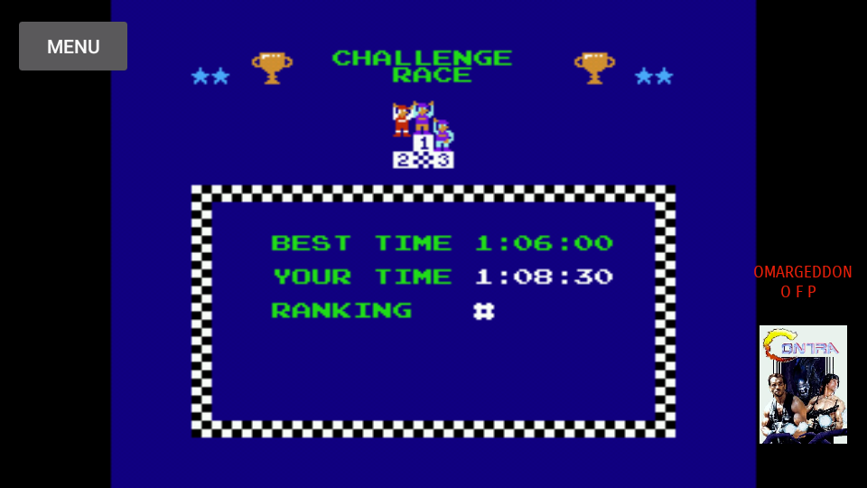 omargeddon: Excitebike: Track 5 [Selection B] (NES/Famicom Emulated) 0:01:08.3 points on 2017-10-13 20:05:38
