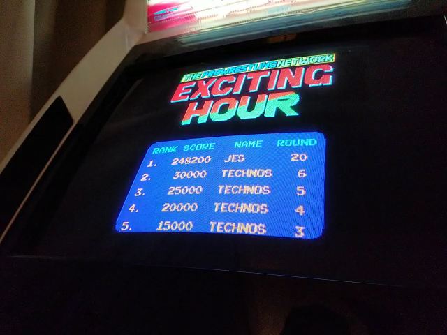 JES: Exciting Hour [excthour] (Arcade Emulated / M.A.M.E.) 248,200 points on 2018-08-18 02:06:45