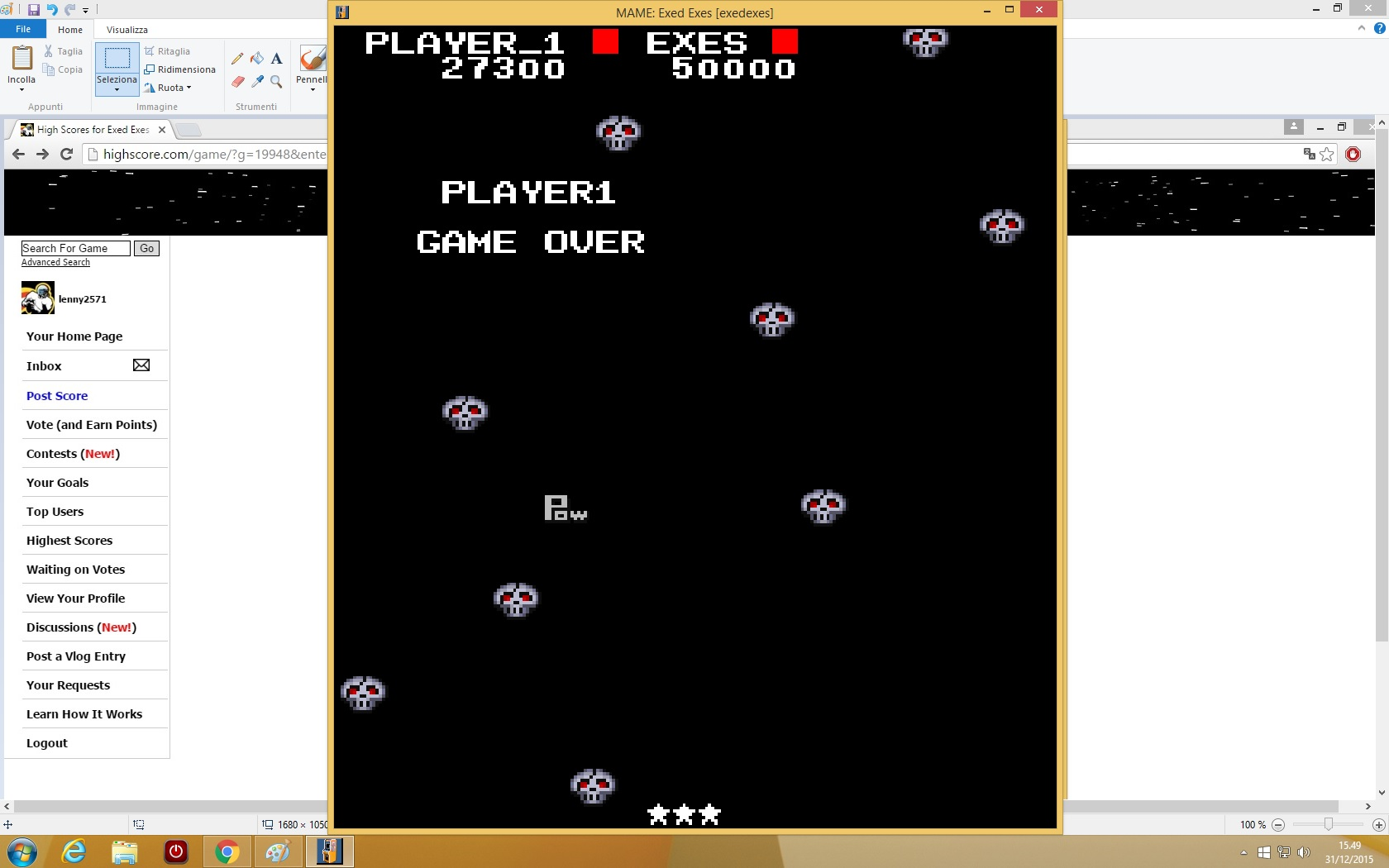 lenny2571: Exed Exes (Arcade Emulated / M.A.M.E.) 27,300 points on 2015-12-31 08:51:27
