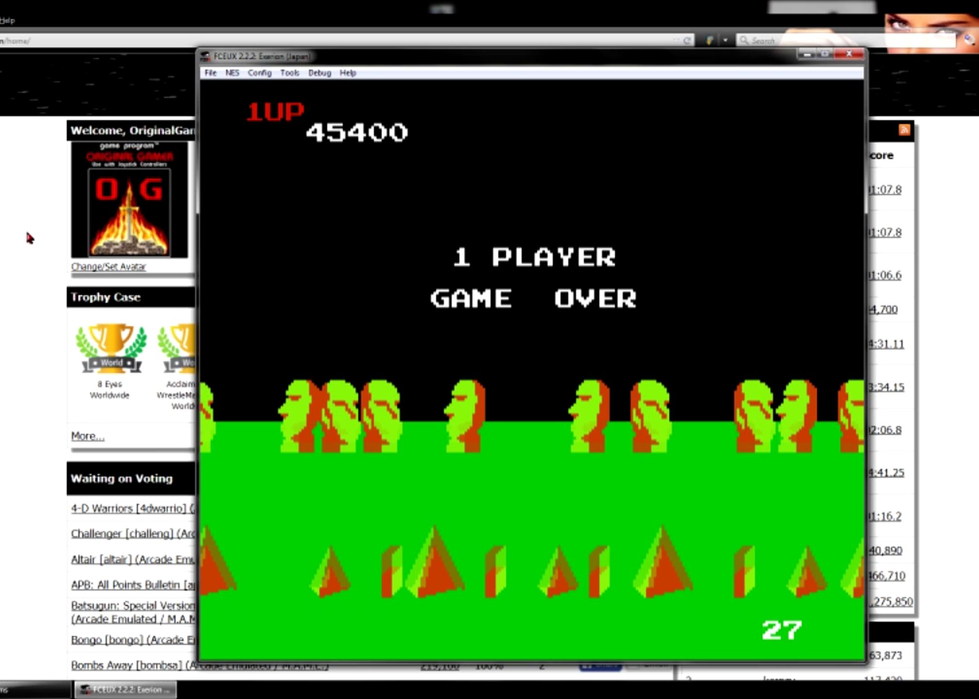 OriginalGamer: Exerion (NES/Famicom Emulated) 45,400 points on 2015-06-20 17:58:00